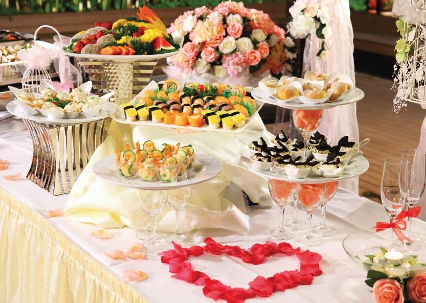 Фуршетный стол на свадьбе в картинках черно-белые рабочий