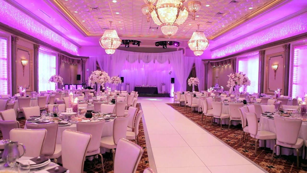 Банкетный зал белый с подсветкой